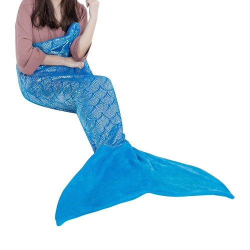 LANGRIA Mermaid Tail Blanket