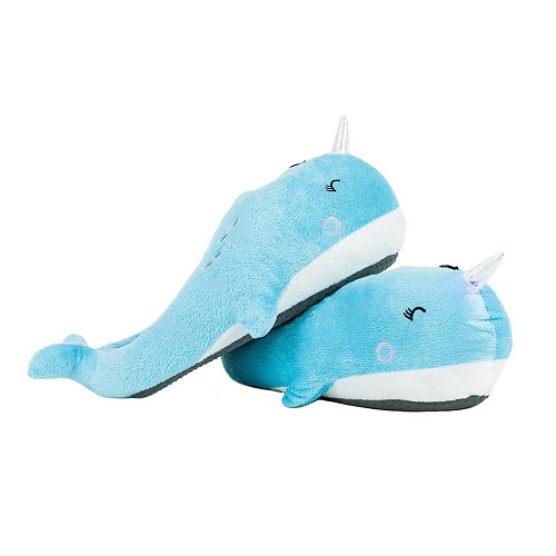 narwhal-lover-gifts Smoko Plush Buddies Slippers