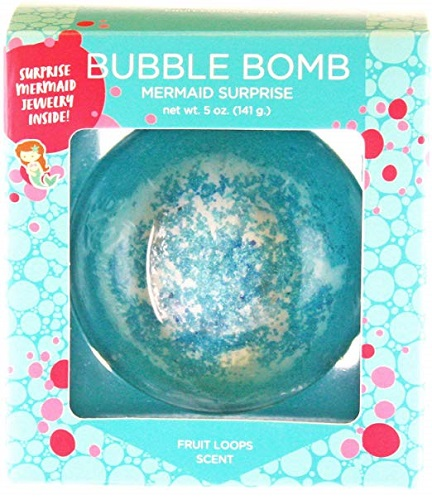 Mermaid BUBBLE Bath Bomb with Surprise