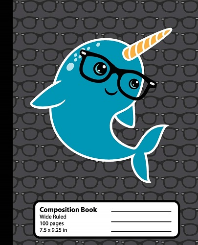 narwhal-lover-gifts Narwhal Composition Book