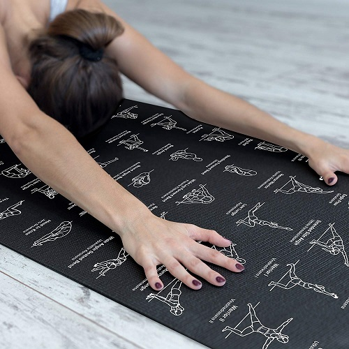 NewMe Fitness Instructional Yoga Mat