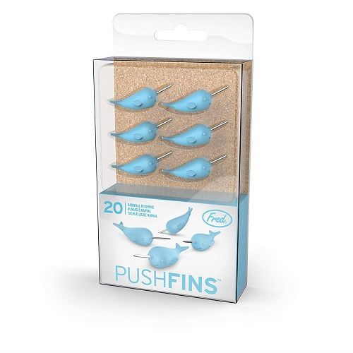 narwhal-lover-gifts Fred & Friends Narwhal Pushpins