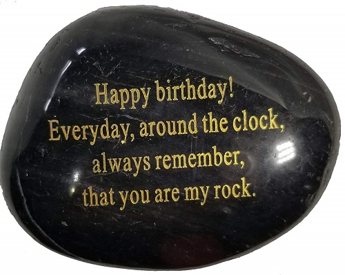 Happy Birthday Engraved Rock