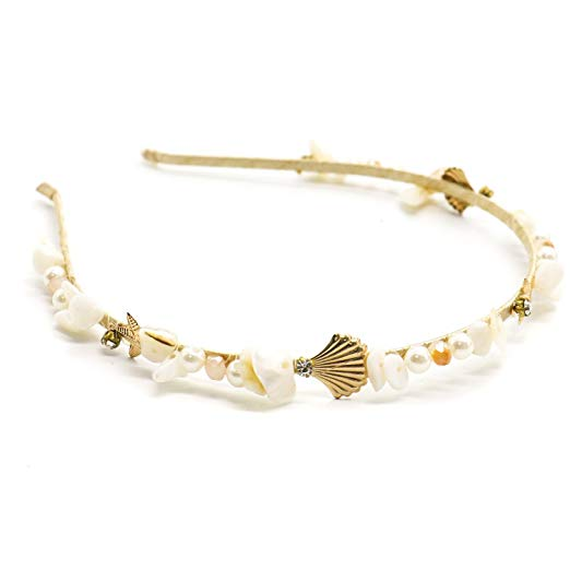 TOPMO Alloy Shell Pearls Hoop Hair Accessories Headband