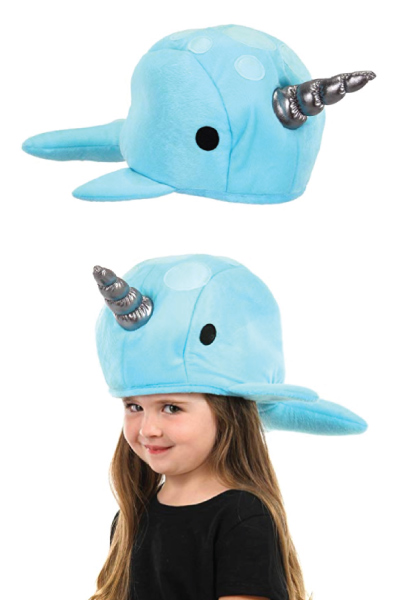 narwhal-lover-gifts elope Narwhal Plush Hat
