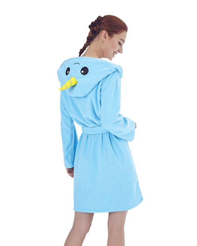 Foresightrade Adult Narwhal Fleece Robe