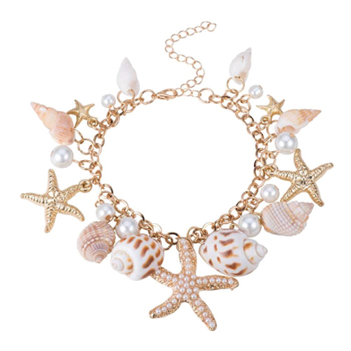 Pandahall Fashion Sea Shell Starfish Bracelet