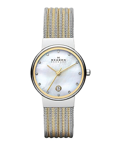 Skagen 'White Label' Stainless Steel Dress Watch