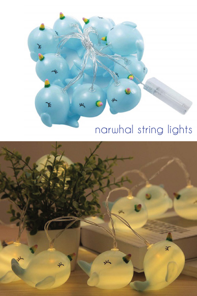 narwhal-lover-gifts Narwhal String Lights
