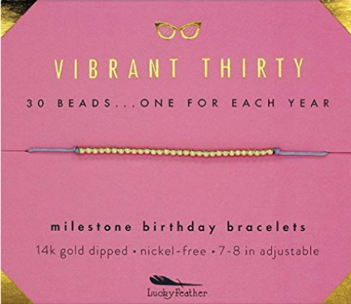 30th Birthday Bracelet