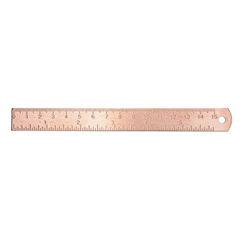 Chris.W 6 Inch Brass Ruler - Rose Gold Office Supplies
