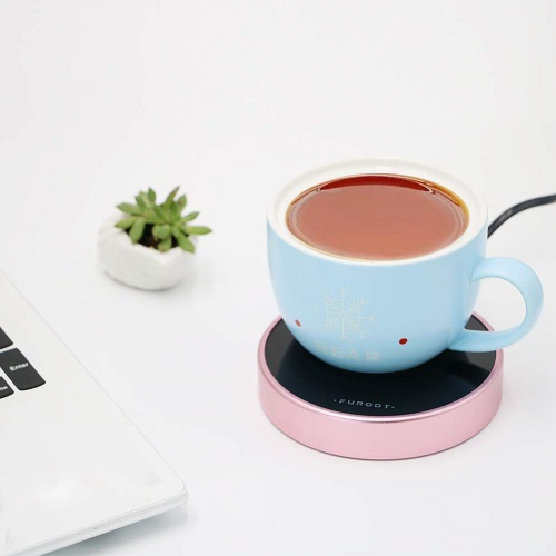 Asmwo Coffee Mug Warmer - Rose Gold Office Supplies