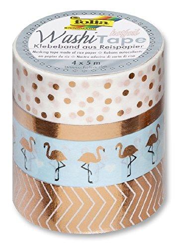 Folia Decorative Masking Washi Tape- Rose Gold Office Supplies