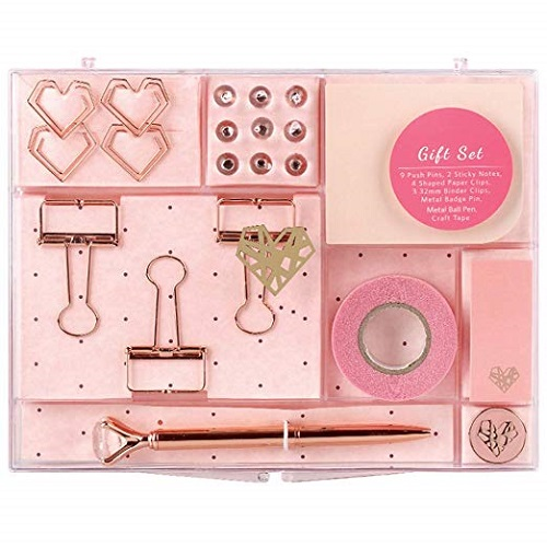 MultiBey Rose Gold Stationery Set