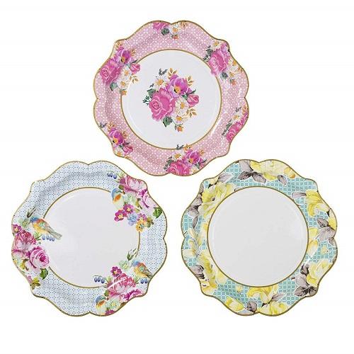 Floral Vintage Paper Plates