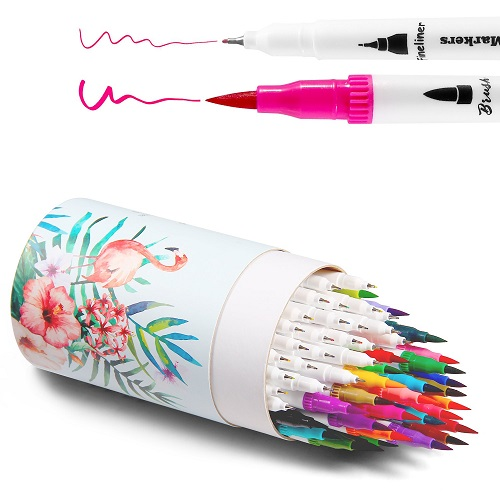 Ohuhu Dual Tips Brush Fineliner Color Pens