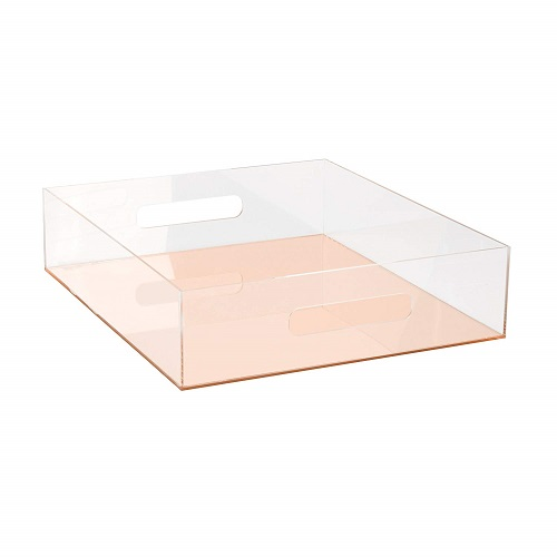 C.R. Gibson Rose Gold Acrylic Letter Tray - Rose Gold Office Supplies