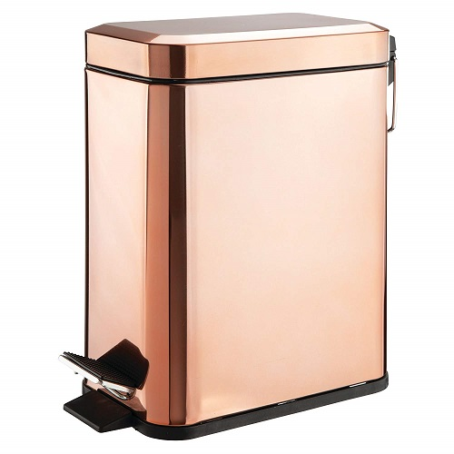 Rose Gold Office Trash Can - Office Supplies