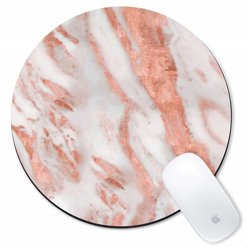 Rose Gold and Marble Mousepad - Rose Gold Office Supplies