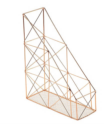 Rose Gold File Organizer Rack - Rose Gold Office Supplies