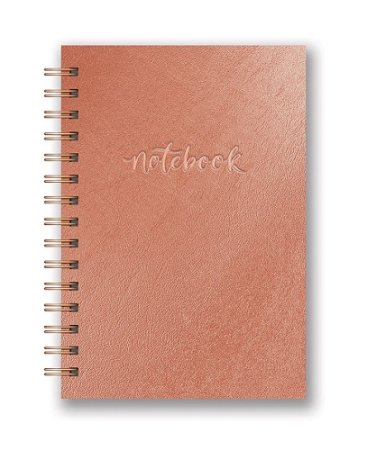 Studio Oh! Hardcover Rose Gold Notebook - Rose Gold Office Supplies
