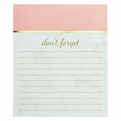 Graphique Rose Marble Jotter Notepad - Rose Gold Office Supplies