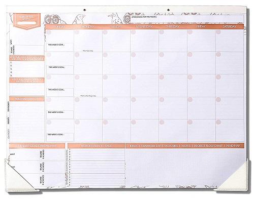 Deluxe Monthly Desk Calendar
