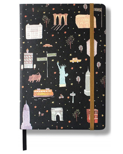 """New York City"" NYC Hardcover Notebook by Minimalism Art"