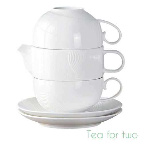 Stackable Tea Set for Two