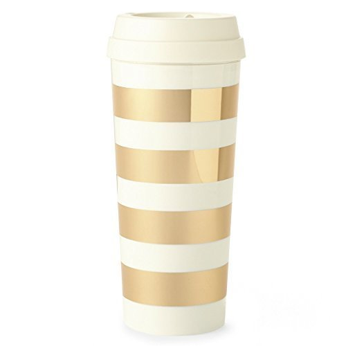 Kate Spade Gold Stripe Travel Mug