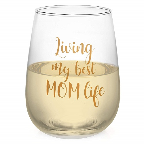 Funny Wine Glass For Mom