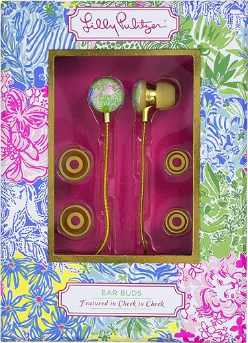 Lilly Pulitzer Earbuds (Cheek to Cheek)