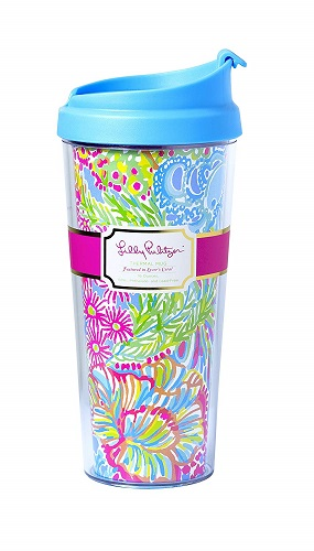 Lilly Pulitzer Lover's Coral Thermal Mug