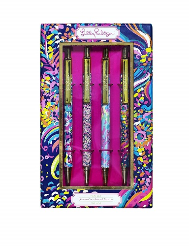 Lilly Pulitzer Black Ink Pen Collection
