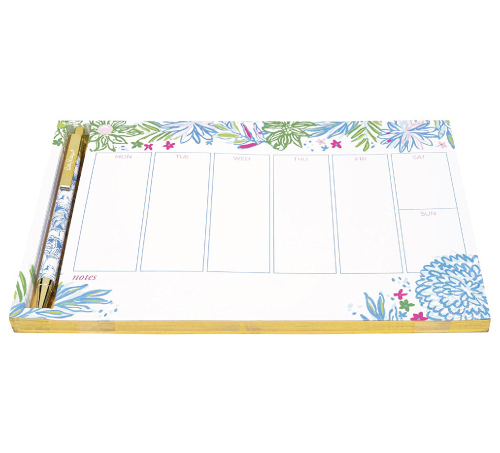 Lilly Pulitzer Planner Desk Pad and Pen Set