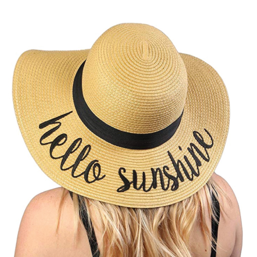 Embroidered Floppy Sun Hat