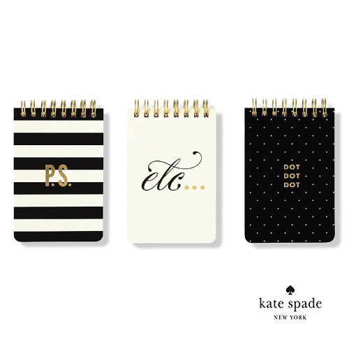 Kate Spade Mini Spiral Notepad Set