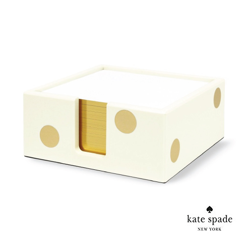 Gold Dot Note Holder by Kate Spade New York