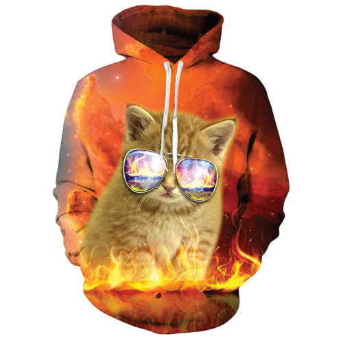 UNIFACO Galaxy Cool Cat Hoodie