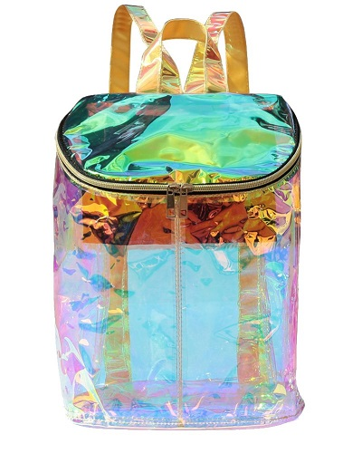 Hologram Holographic Envelope Clear Cute Backpack