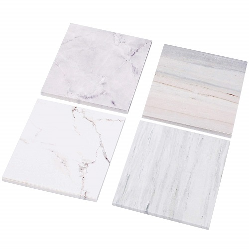 RIANCY Marble Sticky Notes marble office essentials and supplies