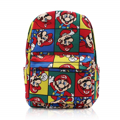 Finex Super Mario Brother Bros Canvas Backpack