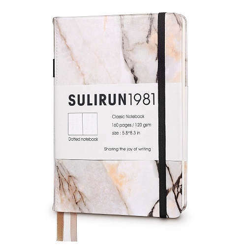 SULIRUN1981 Hardcover Notebook Journalmarble back to school supplies