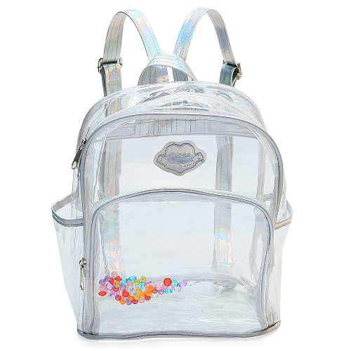 Zicac Girls' Transparent Sequins Backpack