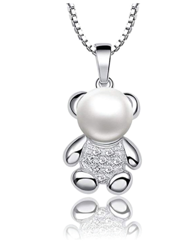 Pearl Bear Necklace