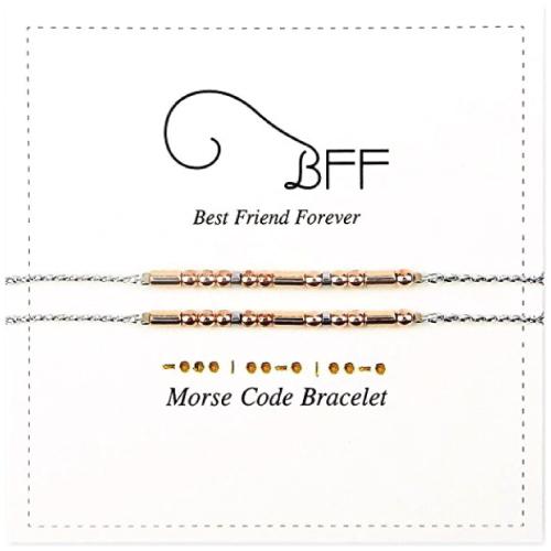 BFF Morse Code Bead Bracelets
