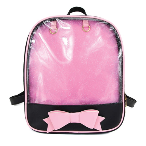 cute-mini-backpacks Kawaii Black Pink Candy Bag