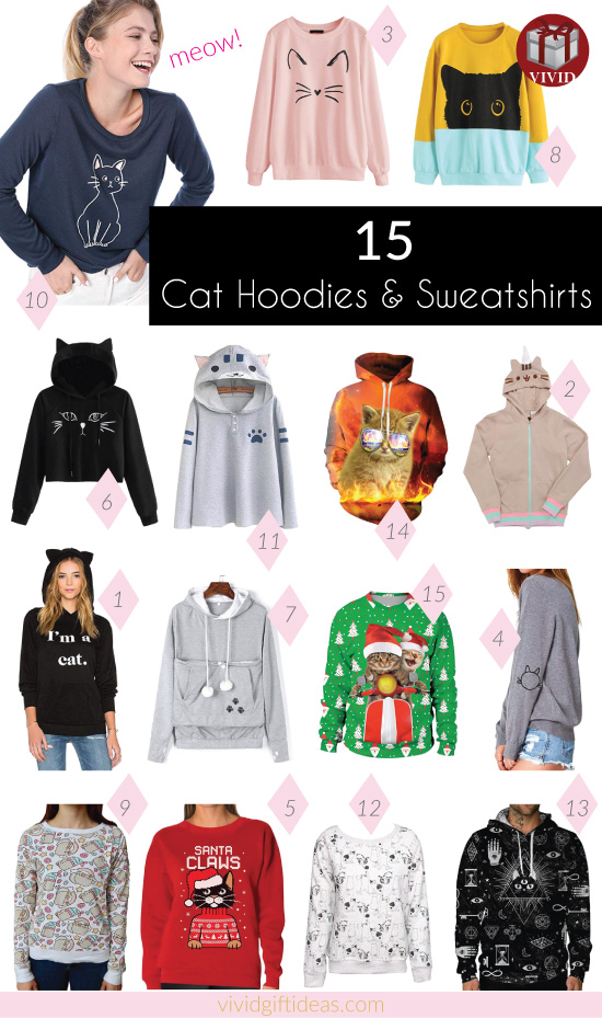 Cat Hoodies | Cat Sweatshirts