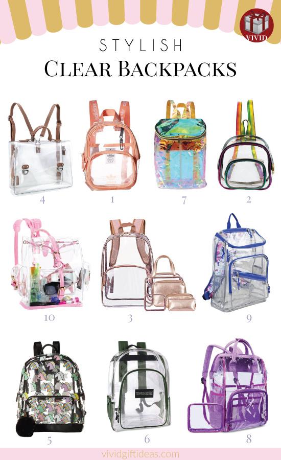 Backpacks Cute Clear