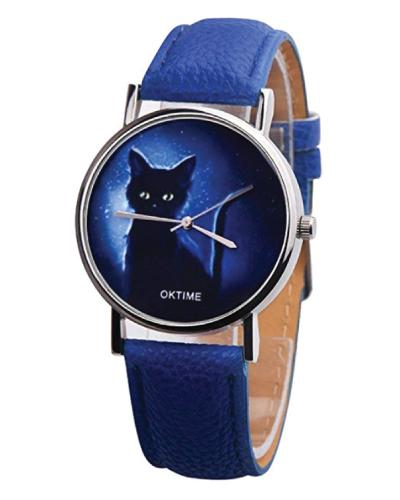 COOKI Mysterious Black Cat Wrist Watch